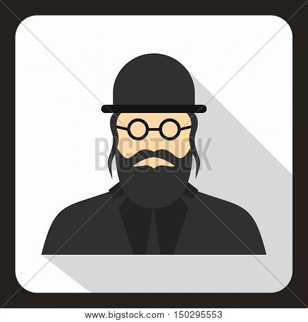 Rabbi icon in flat style on a white background vector illustration