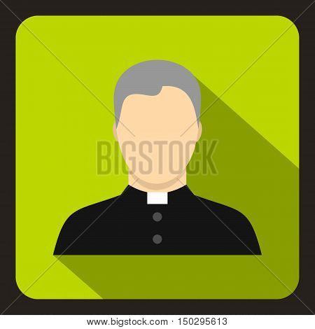 Catholic priest icon in flat style on a white background vector illustration