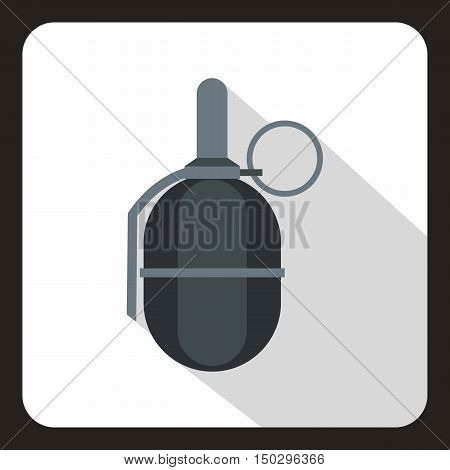 Hand paintball grenade icon in flat style on a white background vector illustration