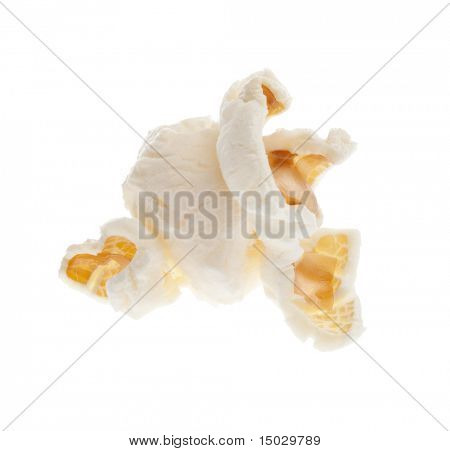 Popcorn isolated on a white background