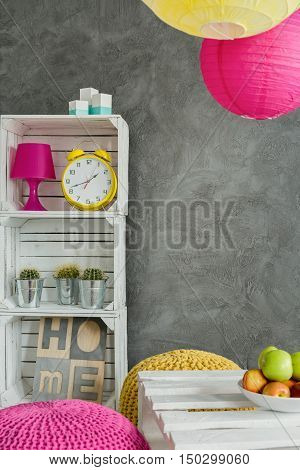 Energetic Colors In A Grey Flat
