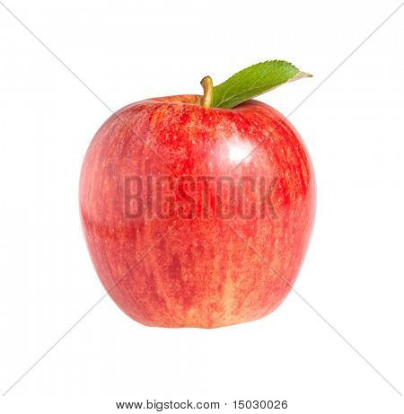 Royal Gala apple isolated on a white background.