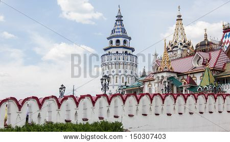 the Kremlin in Izmailovo on a warm Sunny day