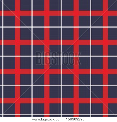 red and blue white plaid scottish pattern vector
