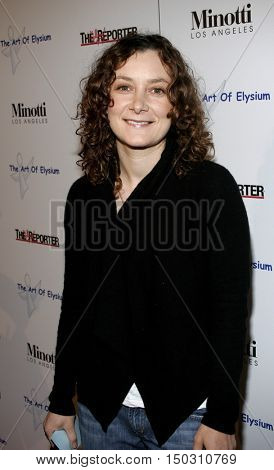 Sara Gilbert at the Art of Elysium Presents Russel Young 'fame, shame and the realm of possibility' held at the Minotti Los Angeles in West Hollywood, USA on November 30, 2005.