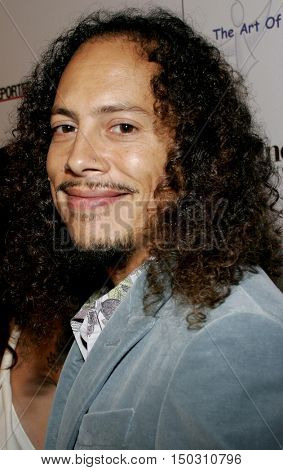 Kirk Hammett of Metallica at the Art of Elysium Presents Russel Young 'fame, shame and the realm of possibility' held at the Minotti Los Angeles in West Hollywood, USA on November 30, 2005.