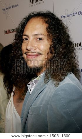 Kirk Hammett of Metallica at the Art of Elysium Presents Russell Young 'fame, shame and the realm of possibility' held at the Minotti Los Angeles in West Hollywood, USA on November 30, 2005.