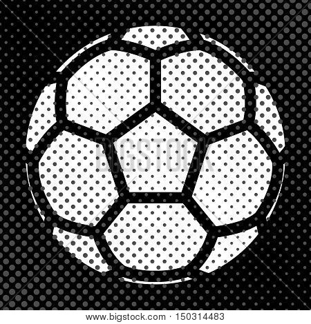 Sports background Ball for the game of soccer the effect of halftone and place for your text vector illustration.