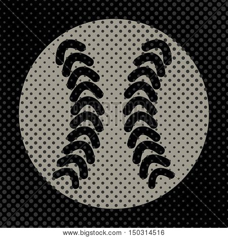 Sports background Ball for the game of baseball the effect of halftone and place for your text vector illustration.