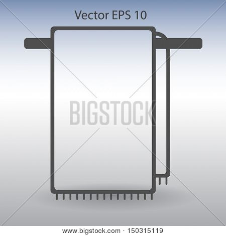 hanging towel rack vector icon