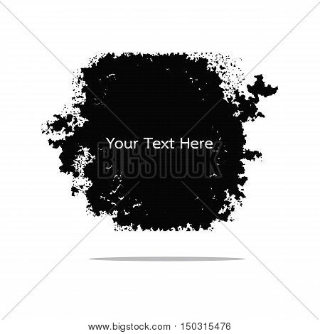 black grunge texture label for  background vector