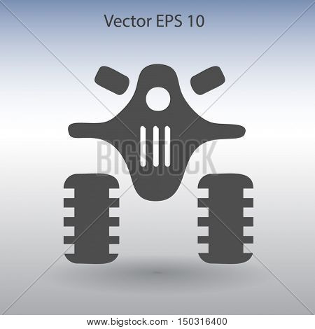 Flat quad bike icon