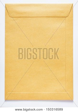 Brown envelope for letter, missive and message in official.