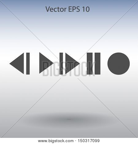 Buttons for music playback vector illustration