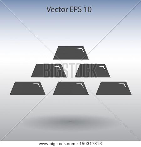 gold bullion icon vector illustration