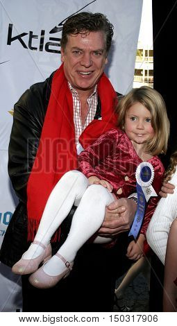 Chris McDonald with daughter Ava at the 2005 Hollywood Christmas Parade held at the Hollywood Roosevelt Hotel in Hollywood, USA on November 27, 2005.
