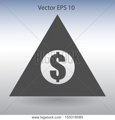 top of the financial pyramid vector illustration