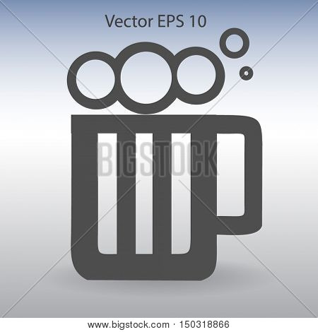 Glass of beer icon,Vector illustration