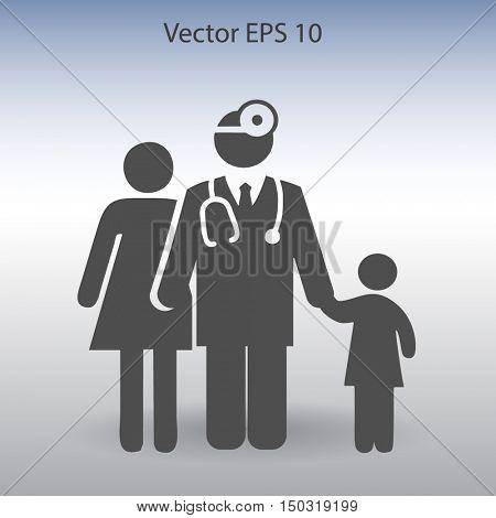 Family practice vector illustration