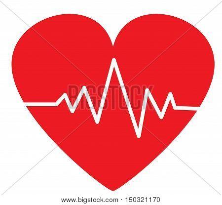 Heartbeat / heart beat pulse flat icon