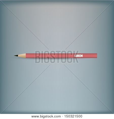 Template for advertising and corporate identity. Design of pen. Vector illustration.
