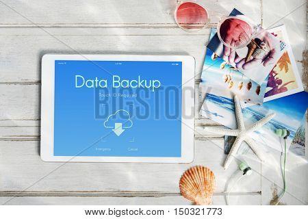 Online Backup Cloud Storage Data Concept