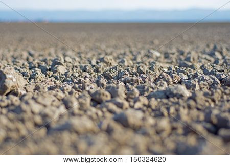 Ground Close Up. Arable Land. Soil Background. Fertile Land.