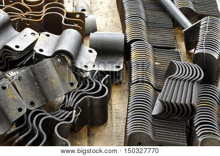 Clamp pipe group objects industries manufactory theme.