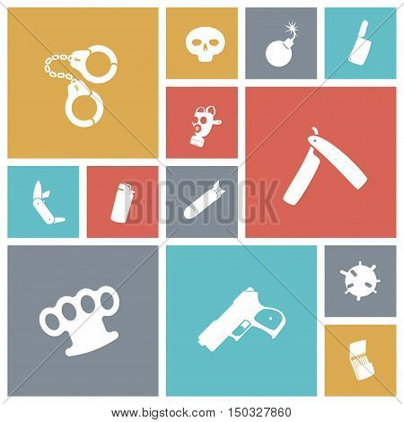 Flat design miscellaneous icons set. Vector illustration.