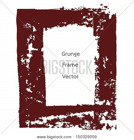 red retro grunge frame square for text vector