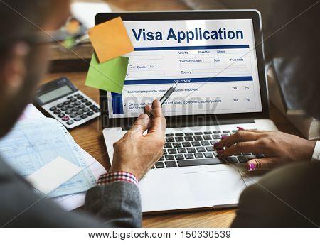 Visa Application Information Form Concept