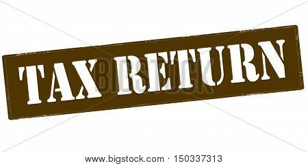 Rubber stamp with text tax return inside vector illustration