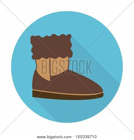shoe flat icon with long shadow for web design