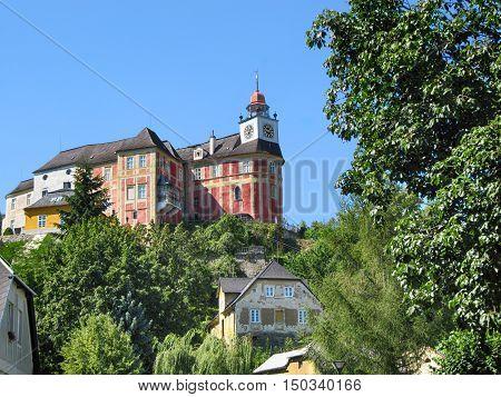 The Castle Jansky Hill (Jansky Vrch) above Town Javornik Olomouc Region Czech Republic