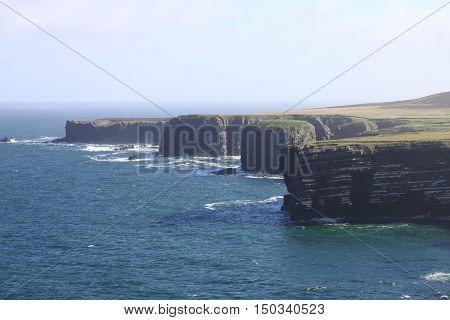 Landscape view of Loop Head cliffs. County Clare, Ireland