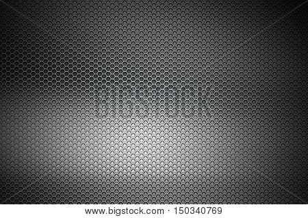 Black Chrome Metallic Mesh. Metal Background And Texture.