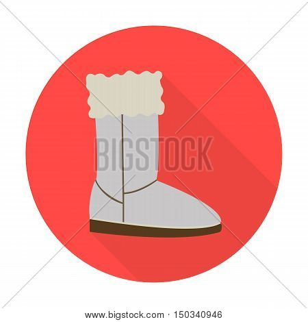 shoes flat icon with long shadow for web design