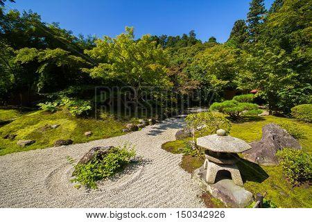 Zen gardens of Kyoto City at Japan