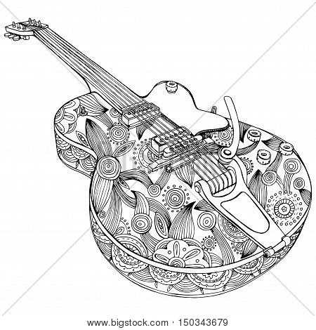 Stylized Guitar Vector Photo Free Trial Bigstock