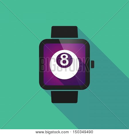 Long Shadow Smart Watch With  A Pool Ball