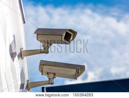 Security Cctv Camera Or Surveillance System In Office Building