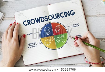 Crowdsourcing Data Graph Chart Concept