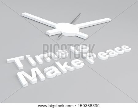 Time To Make Peace Concept