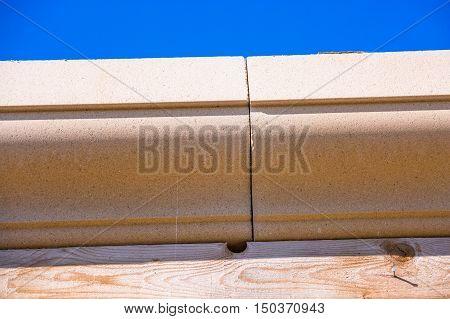 Brown Blocks On Top Brown Wood