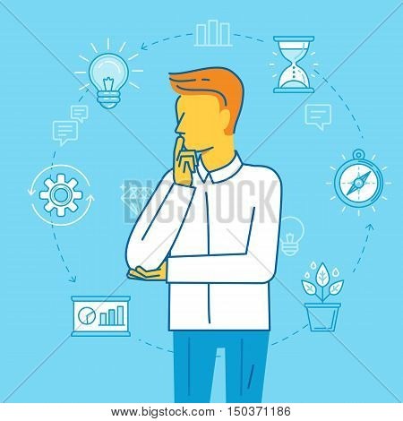 Vector Illustration - Business Planning And Time Management