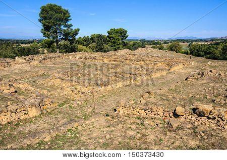 Ruins Of Iberian Settlement Near Ullastret, Spain