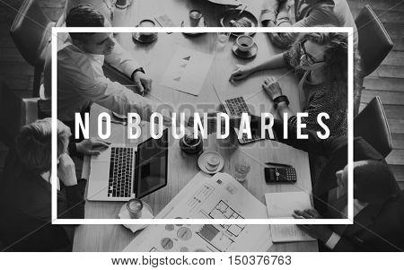 No Boundaries Community Explore Immigration Concept