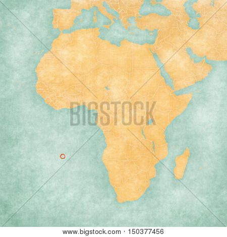 Map Of Africa - Saint Helena
