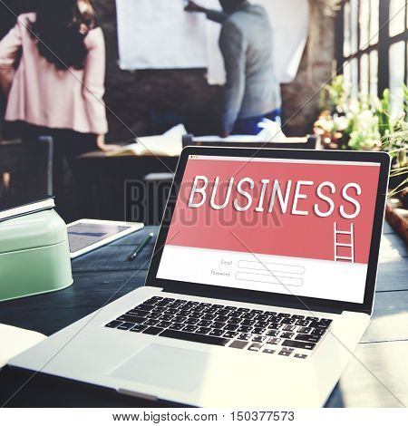 Business Goals Strategy Target Login Graphic Concept