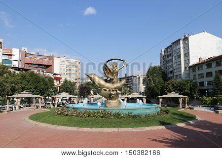 Statue In Eskisehir City